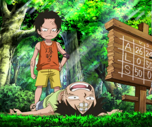 one piece, sabo, and portgas d. ace image