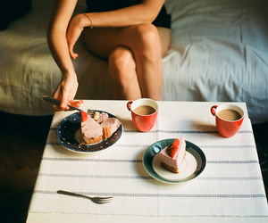 vintage, coffee, and cake image