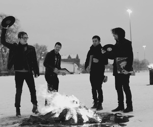 fall out boy, fire, and pete wentz image