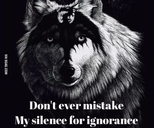 wolf, quotes, and silence image