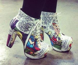 shoes, comic, and heels image