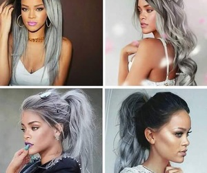 grey, hair, and pretty image