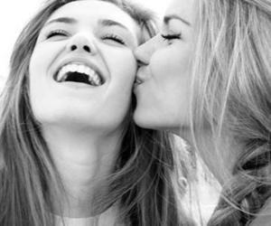 girl, friends, and kiss image