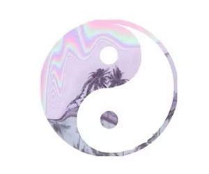 transparent, overlay, and yin yang image