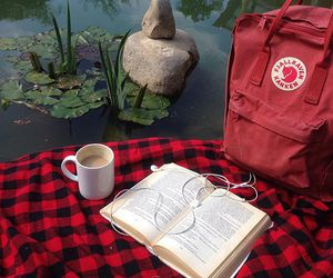 red, aesthetic, and book image