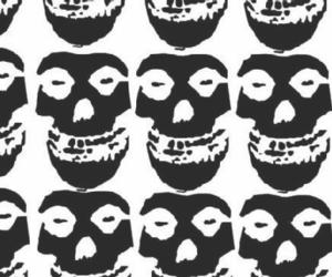 misfits, skull, and background image