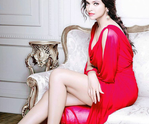 beauty, red, and deepika padukone image