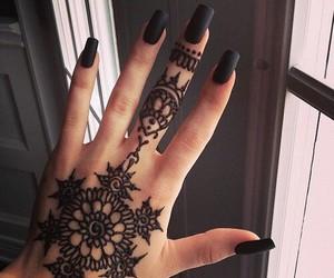 henna, nails, and lol image