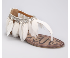 sandals, shoes, and feather image