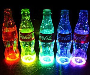 coca cola, light, and colors image