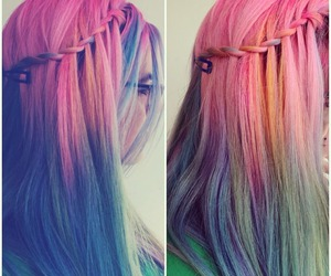 color, fun, and hair image