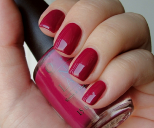 nails, nail polish, and red image