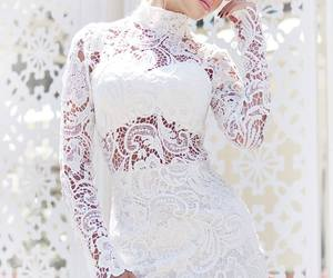 dress, glamour, and white image