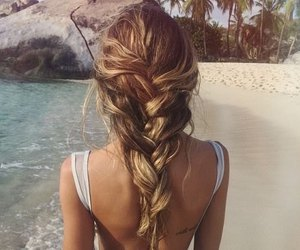 blonde hair, braids, and girly image