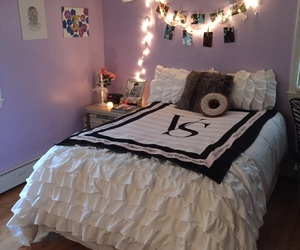 bedroom, blankets, and decor image