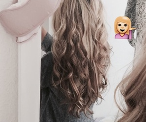 curls, longhair, and balayage image
