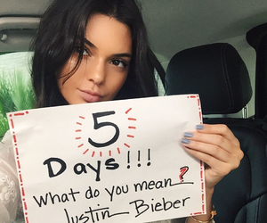 kendall jenner, justin bieber, and what do you mean image