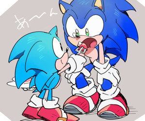 Sonic the hedgehog and classic sonic image