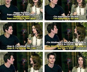 teen wolf, crystal reed, and dylan o'brien image