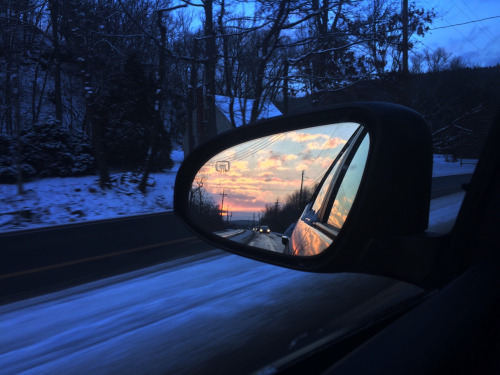 car, winter, and sky image