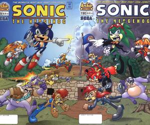 Sonic the hedgehog, sally acorn, and scourge the hedgehog image