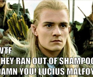 Legolas, lord of the rings, and lucius malfoy image