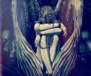 angel, art, and girl image