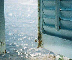 sea, window, and summer image
