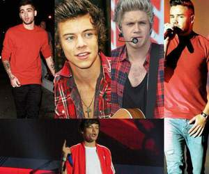 red, 1d, and liam payne image