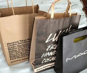 mac, lush, and american apparel image