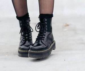 boots, fashion, and black image