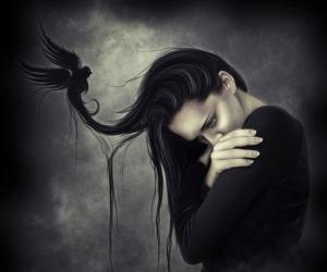 dark, fantasy, and girl image
