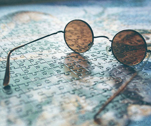 photography, glasses, and puzzle image