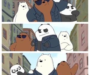 ice bear, pan pan, and we bare bears image