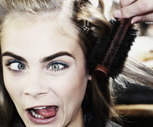 crazy, funny, and cara delevingne image