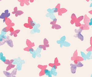 butterflies, pink, and vs image