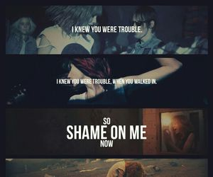 Taylor Swift, trouble, and song image