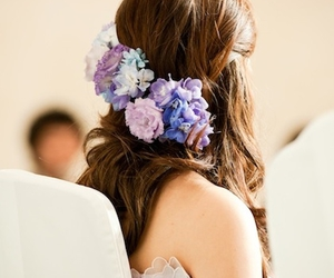 fashion, flower, and hair image
