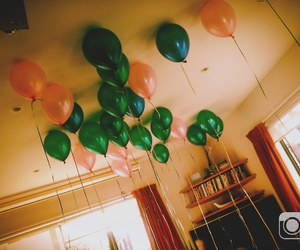 baby, ballons, and colours image
