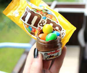 nutella and m&m's image