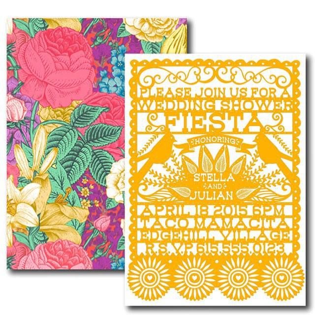 Little Bohemian Papier On Instagram Papel Picado Wedding Shower Fiesta Invitation