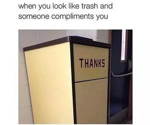 funny, lol, and trash image