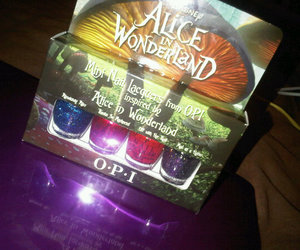 alice in wonderland, opi, and nail varnish image