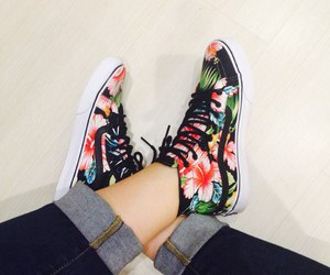 flowers, shoes, and girly image