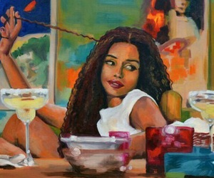 art, black girls, and painted image