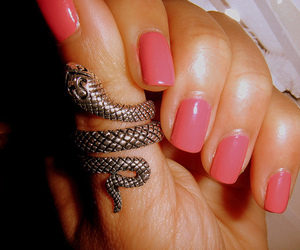 nails, ring, and snake image