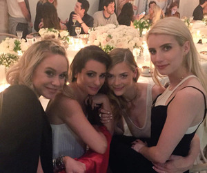 emma roberts, lea michele, and Jaime King image