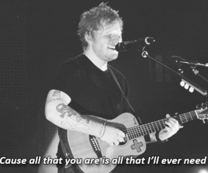 ed sheeran, love, and black and white image
