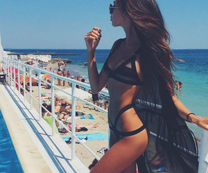 beach, summer, and fitspo image