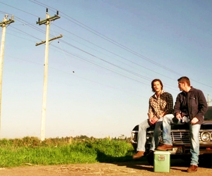 supernatural, impala, and dean winchester image